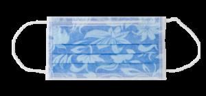 mascherina PTC3 blu floreale euronda monoart