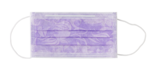 mascherina PTC3 lilla floreale euronda monoart